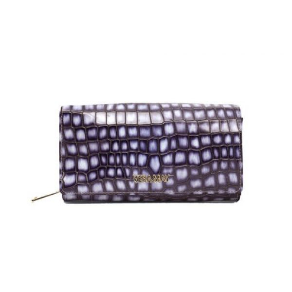 Vera May Berry Patent Genuine Leather Wallet