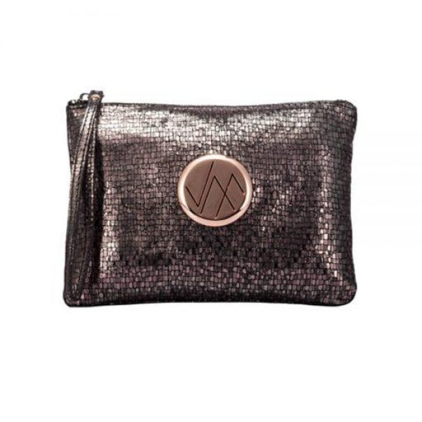 Vera May Gia Bronze Clutch Bag